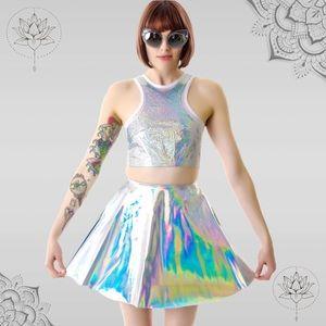 UNIF Gamma Ray Hologram Skirt NWT